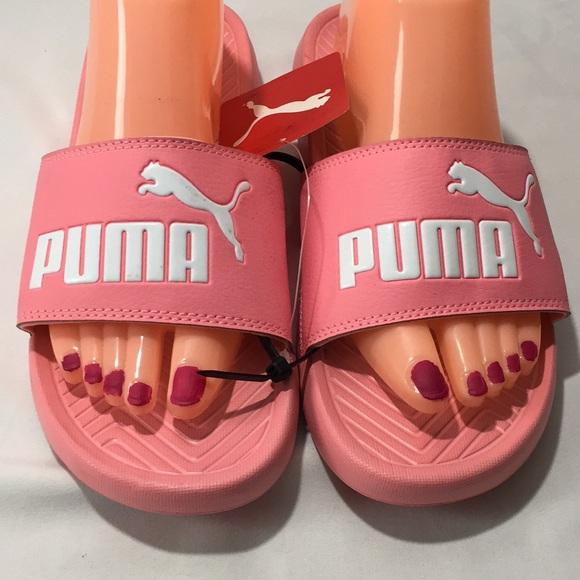New Pink   White Puma Popcat Sandals size 9 1 2 C6 9472b1580
